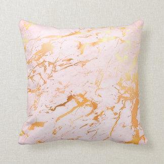Almofada Do rosa cor-de-rosa do ouro do abstrato Pastel de