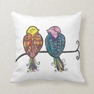 Almofada Dois pássaros coloridos