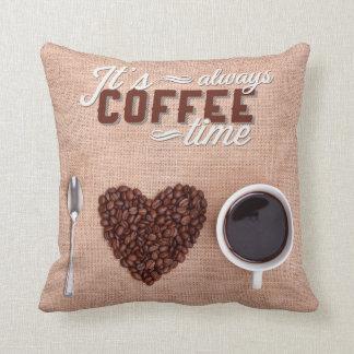 Almofada É sempre tempo do café