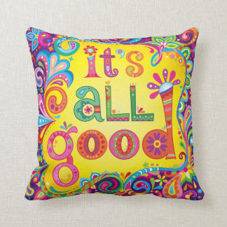 """Almofada """"É todo o bom"""" travesseiro - arte colorida"""