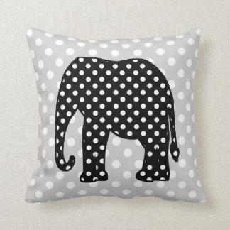 Almofada Elefante preto e branco das bolinhas