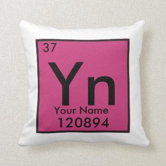 Almofada Elemento químico de Personalizable