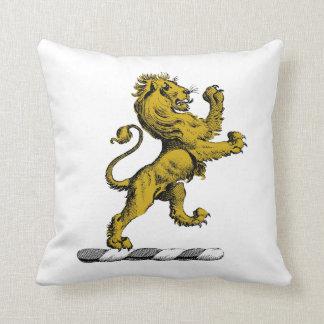 Almofada Emblema ereto C da crista do leão heráldico