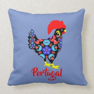 Almofada Emblema nacional português do galo de Barcelos