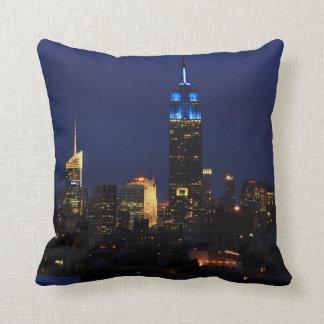 Almofada Empire State Building todo no azul, skyline de NYC
