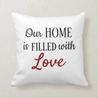 Almofada Enchido com o travesseiro decorativo do amor -