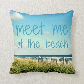 Almofada Encontre-me no travesseiro da praia