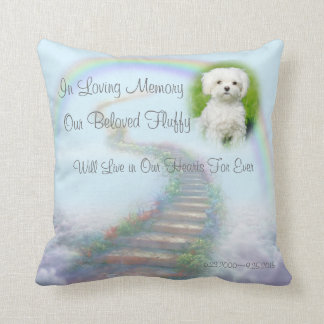 Almofada Escadaria memorável personalizada do animal de