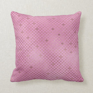 Almofada Escalas cor-de-rosa da sereia