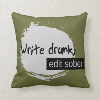 Almofada Escreva o bebado; Edite moderado