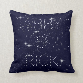 Almofada Escrito no travesseiro decorativo 16X16 das