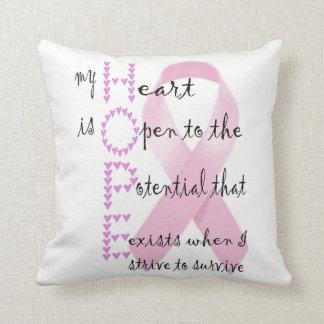 Almofada Esperança do coração lutar contra o cancer