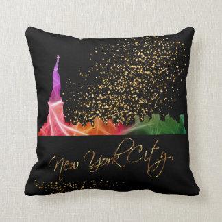 Almofada Estatuto colorido da Nova Iorque da liberdade