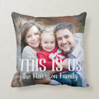 Almofada Este é nós travesseiro da foto de família