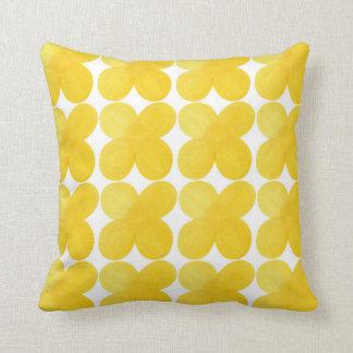 Almofada Estilo amarelo do lagom do travesseiro da flor