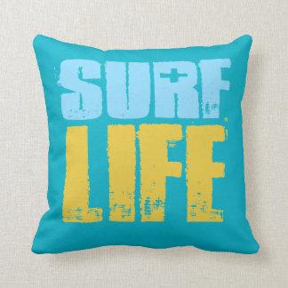 Almofada Estilo do surfista da praia da vida do surf