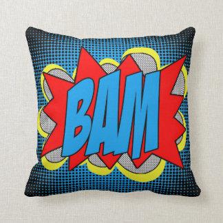 Almofada Estilo legal BAM do pop art da banda desenhada do