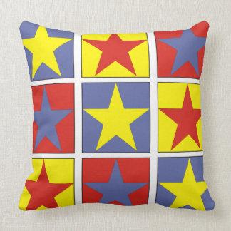Almofada Estrelas Tricolor