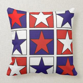 Almofada Estrelas Tricolor patrióticas