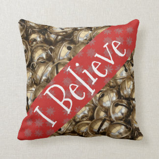 Almofada Eu acredito flocos de neve do travesseiro de Bels