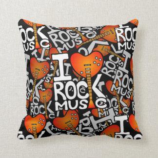 Almofada Eu amo a música rock