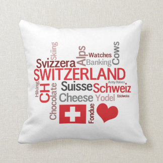 Almofada Eu amo clichés suíços engraçados da suiça