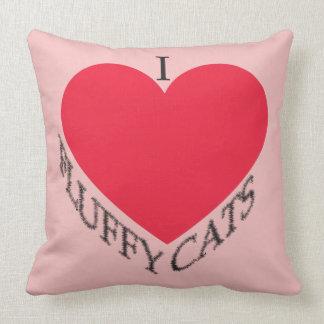 Almofada Eu amo gatos macios