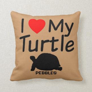 Almofada Eu amo minha tartaruga