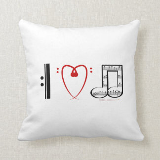 Almofada Eu amo o presente do travesseiro da música para a
