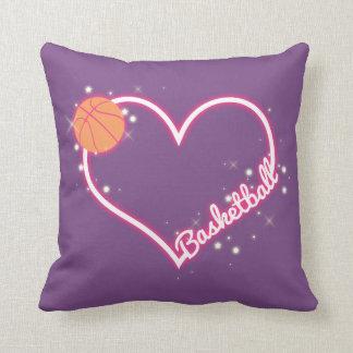 Almofada Eu amo o presente do travesseiro do basquetebol