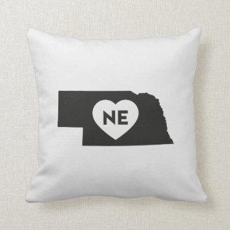 """Almofada Eu amo o travesseiro decorativo 16"""" do estado de"""