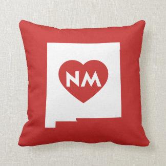 Almofada Eu amo o travesseiro decorativo do estado de New
