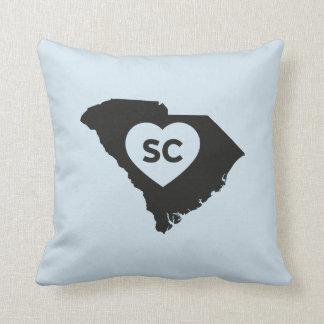Almofada Eu amo o travesseiro decorativo do estado de South