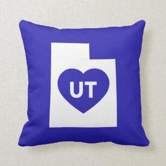 Almofada Eu amo o travesseiro decorativo do estado de Utá