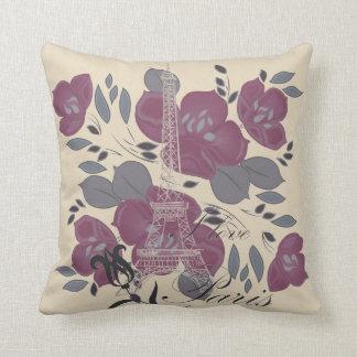 Almofada Eu amo o travesseiro decorativo floral reversível