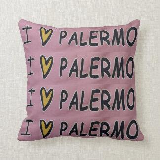 Almofada Eu amo o travesseiro do design de Palermo