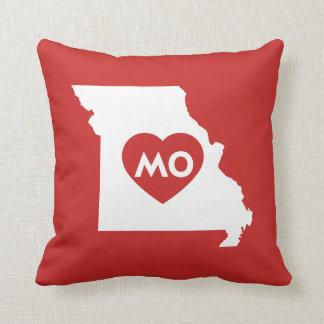 Almofada Eu amo o travesseiro do estado de Missouri