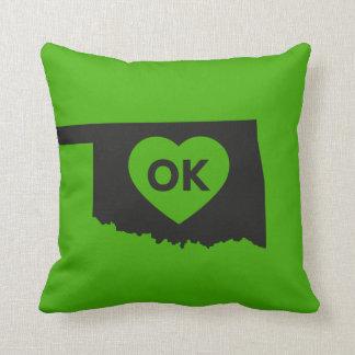 Almofada Eu amo o travesseiro do estado de Oklahoma
