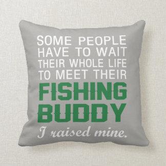 Almofada Eu aumentei meu amigo da pesca