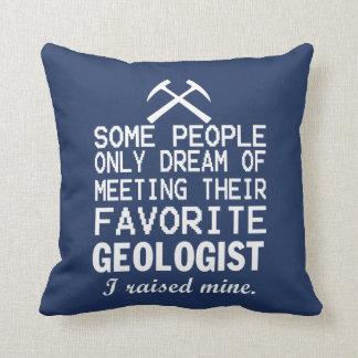 Almofada Eu aumentei o geólogo