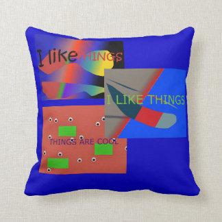 Almofada EU GOSTO do travesseiro do sofá das COISAS