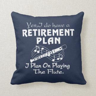Almofada Eu planeio em jogar a flauta