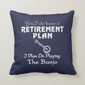 Almofada Eu planeio em jogar o banjo!