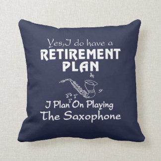 Almofada Eu planeio em jogar o saxofone