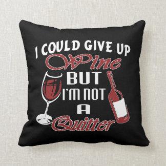 Almofada Eu poderia dar acima o vinho