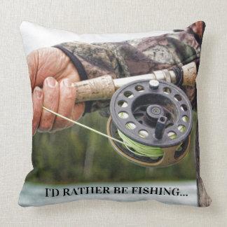 Almofada Eu preferencialmente estaria pescando