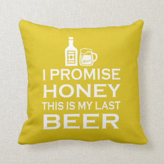 Almofada Eu prometo, isto sou minha última cerveja