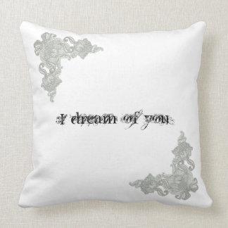 Almofada Eu sonho de você o travesseiro decorativo