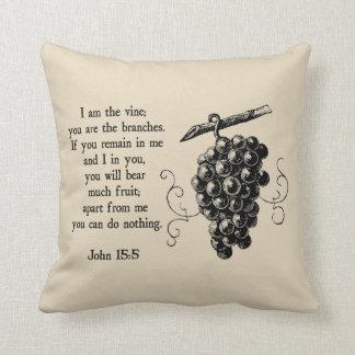Almofada Eu sou o travesseiro decorativo decorativo cristão