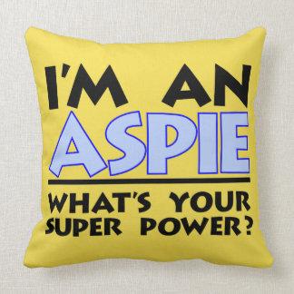 Almofada Eu sou um Aspie o que é seu poder super